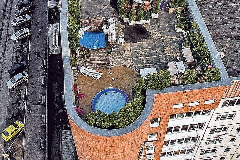 Почти как Карлсон: директор ТСЖ построил виллу на крыше многоэтажки ynews, ТСЖ, красивая жизнь, москва, отдыхаем красиво