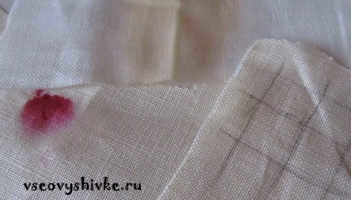 Чем вывести пятна на вышивке — реальный опыт