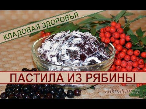 Рецепт домашней пастилы из красной и черноплодной рябины