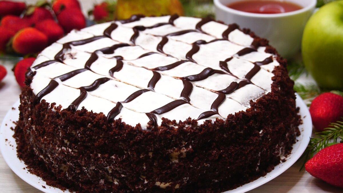 Торт Шоколадный с банановой прослойкой