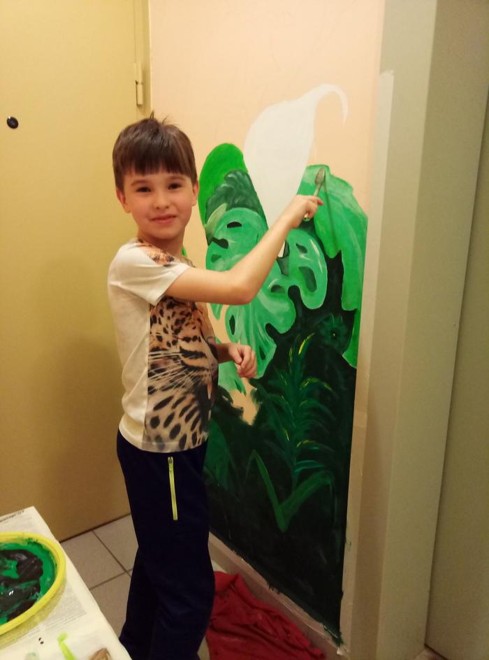 Я разрисовываю с детьми свою лифтовую площадку художник рисует, рисуем вместе с нами!!!, длиннопост