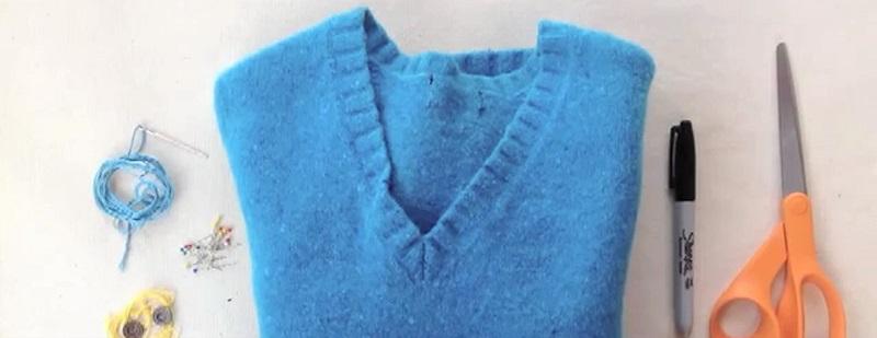Восхитительная вещь из старого свитера для тепла и уюта