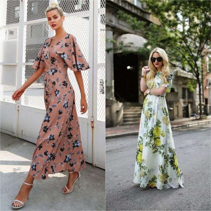 длинные платья 2019