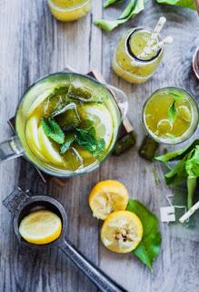 Лимонад с зеленым чаем