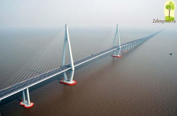 Мост через залив Ханчжоувань - один из самых длинных мостов мира - 8