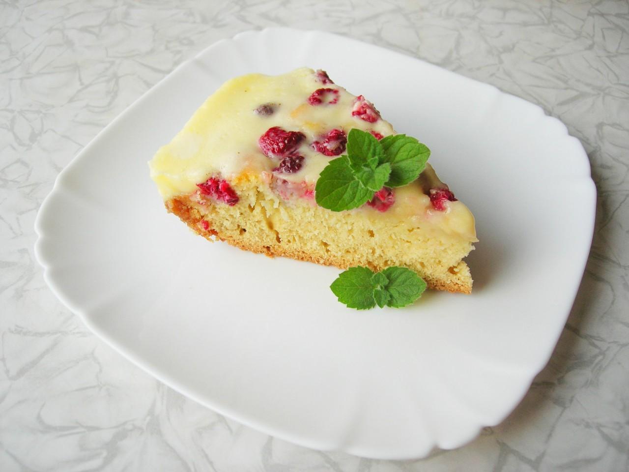 Заливной пирог с малиной. рецепт с фотографиями 90