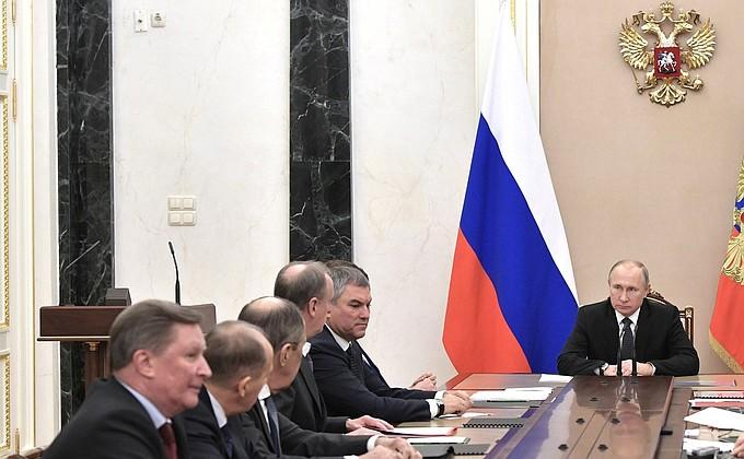 Совещание с постоянными членами Совета Безопасности - НОВОСТИ НЕДЕЛИ
