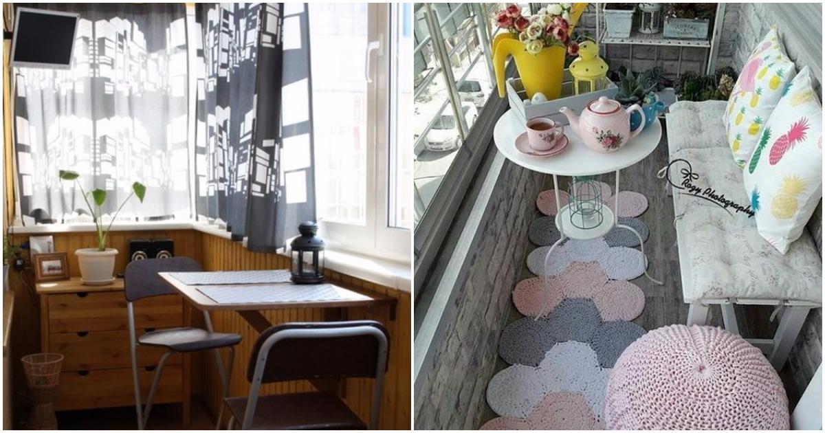 Райский уголок у себя дома или как преобразить застекленный балкон