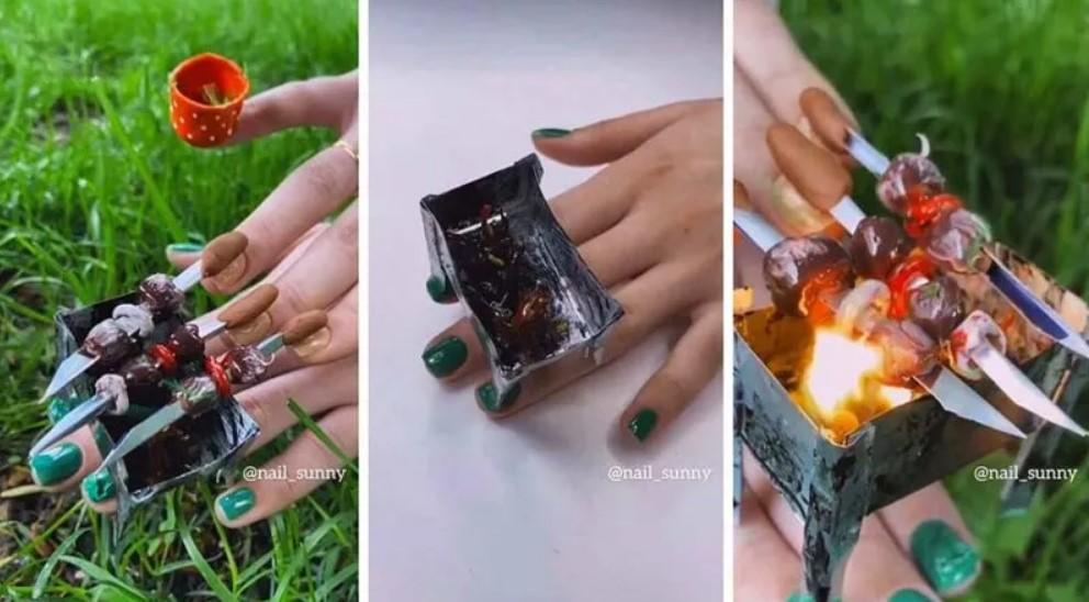 Ногти-шашлычки откреативного российского салона красоты удивили Сеть