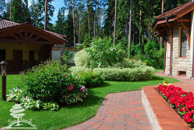 Красивые сады и дачные участки с цветами кустарниками фото