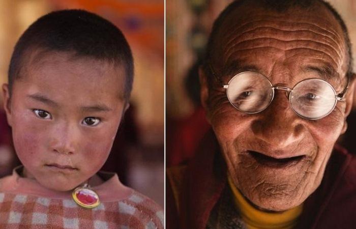 Портреты тибетских монахов, которые живут на высоте 4 тысячи метров над уровнем моря
