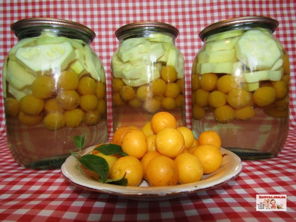 Кабачки с алычой «как ананасы» (Домашние ананасы)