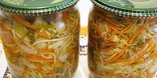 Кабачки на зиму: Салат из кабачков по-корейски