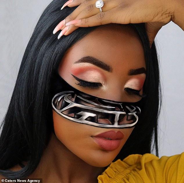 Потрясающие оптические иллюзии на лице 20-летней британки
