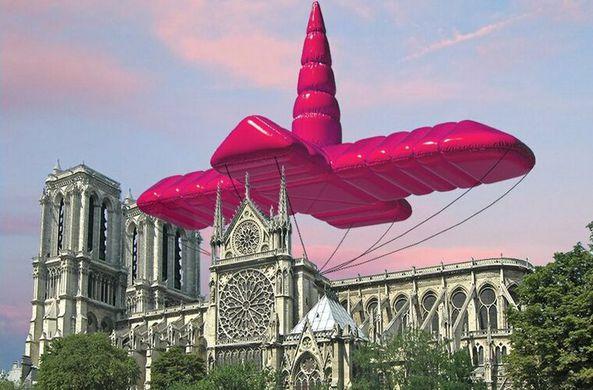 Архитекторы предложили сделать для Нотр-Дама розовую надувную крышу