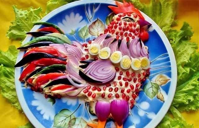 Чудесный салат для новогоднего стола