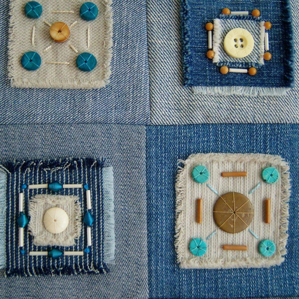 Лоскутный арт из старых джинсов