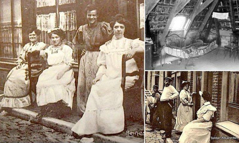 Расцвет проституции в Амстердаме: как выглядела «улица красных фонарей» в 1900-х