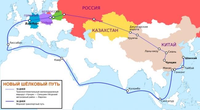 Уже официально: Новый Шелковый путь пройдет в обход Украины