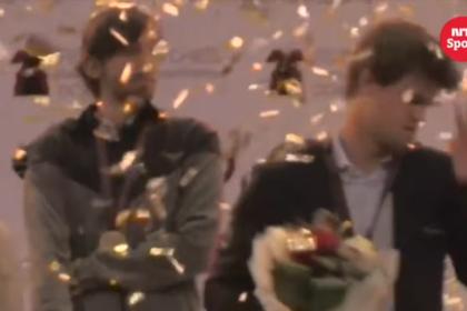Появилось видео побега Карлсена с церемонии награждения на ЧМ по блицу