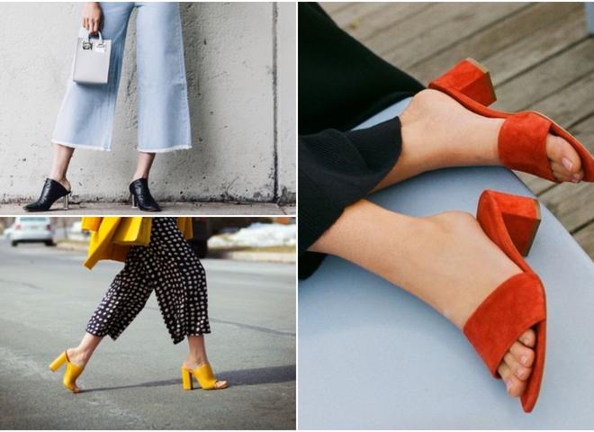 Мюли на каблуках: самая модная обувь на лето 2019