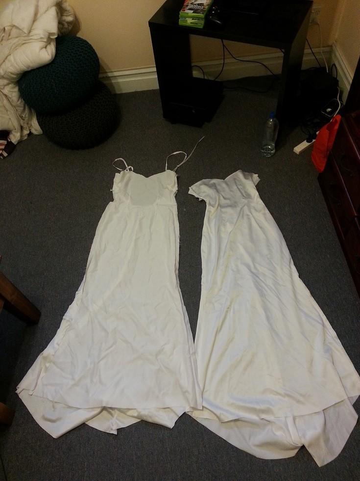 У свадебного платья должна быть двойная подкладка платье, своими руками, создание
