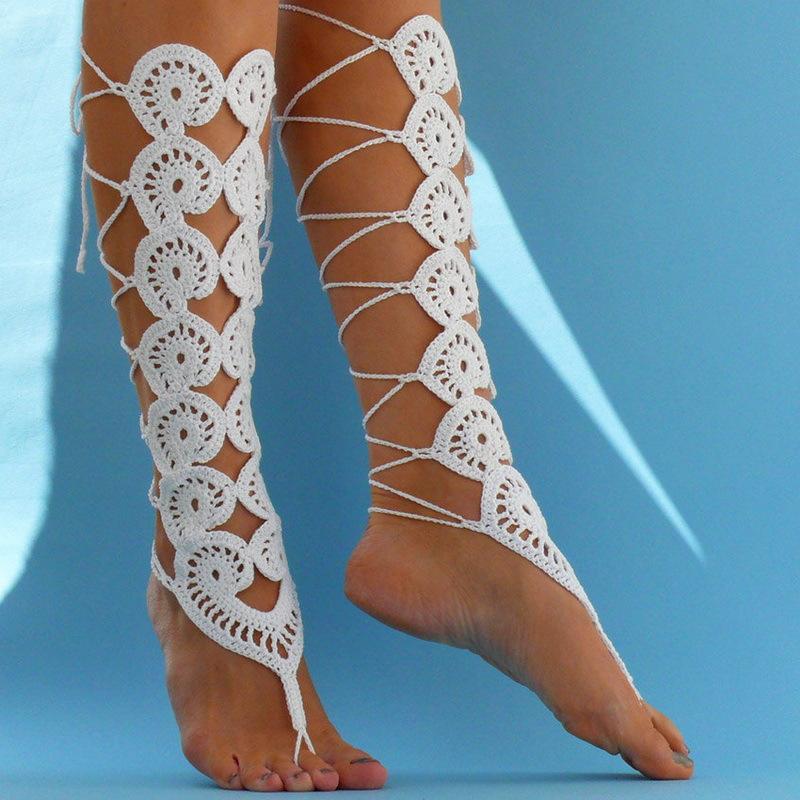 Готовим ножки к лету. Украшения для ног: браслеты и барефуты
