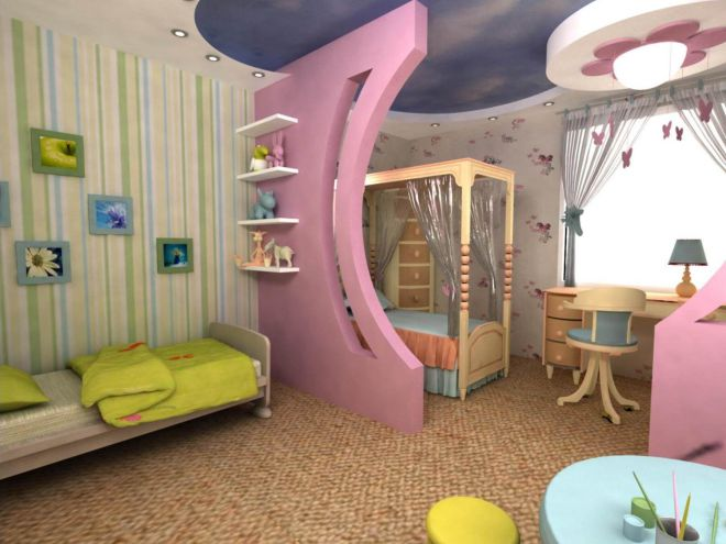 Комната для мальчика и девочки вместе разного возраста