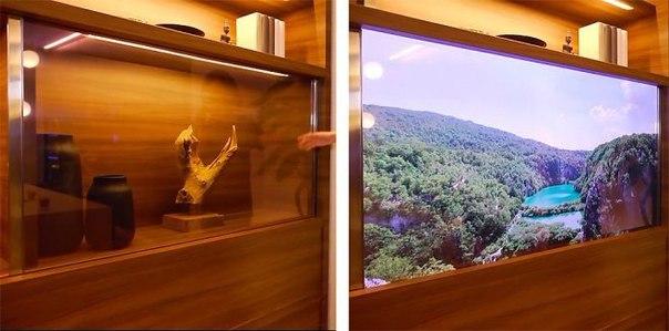 Компания Panasonic разработала невидимый телевизор