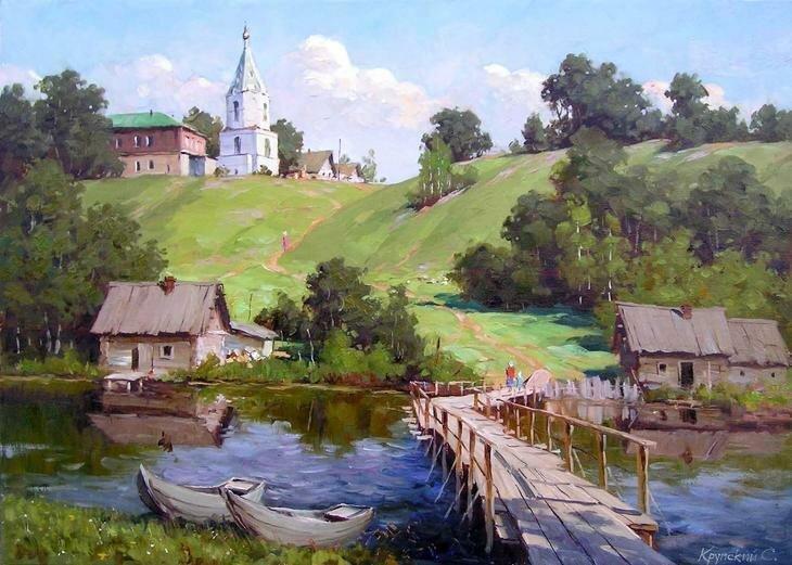Живописные пейзажи Сергея Крупского