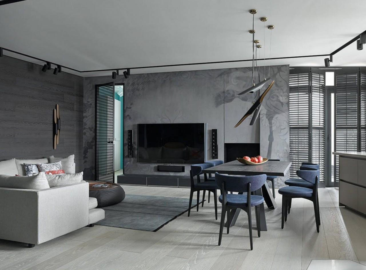 Серый ламинат: фото красивых и практичных интерьеров в разных стилизациях