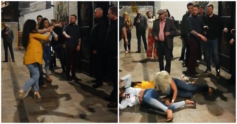Ирландский вышибала успокоил агрессивных пьяных женщин