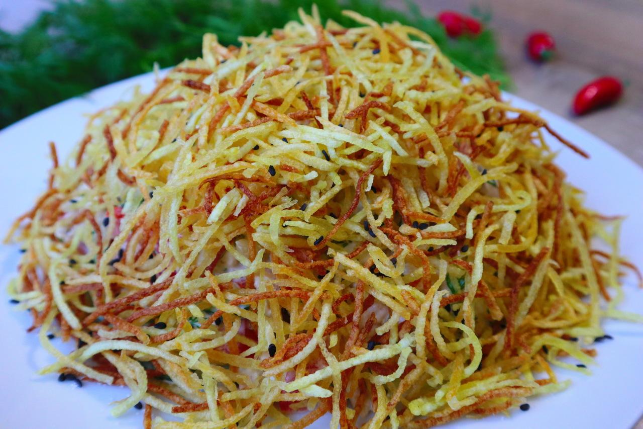 Хрустящий салат Муравейник! …