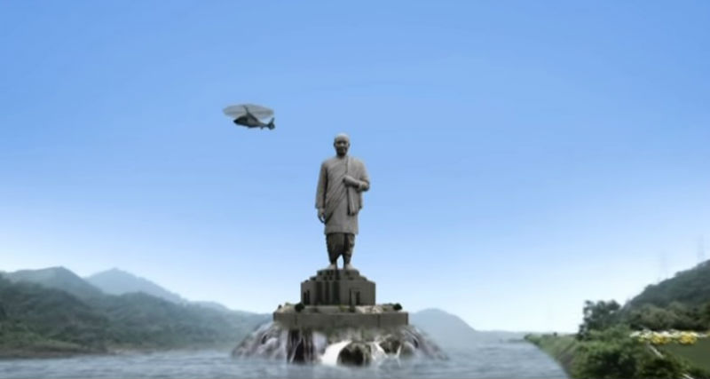 В Индии достраивают самый большой памятник на свете — в два раза выше статуи Свободы