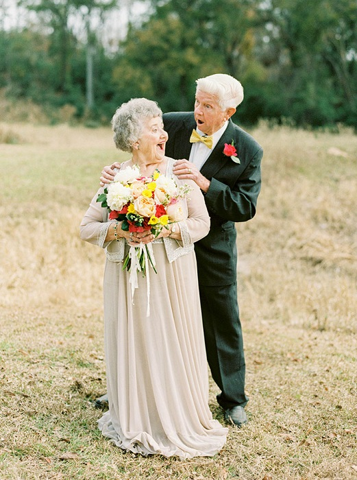 Фотосессия - подарок внучки на 63-ю годовщину свадьбы бабушки и дедушки.