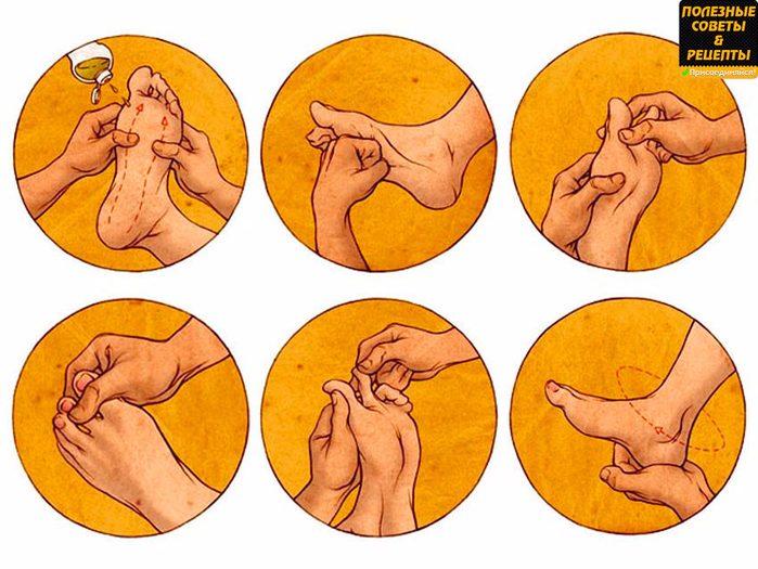 Польза массажа стоп