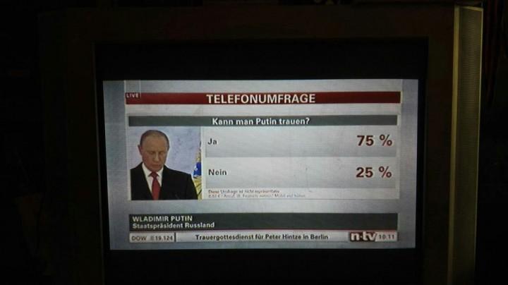 «Можно ли верить Путину?» - опрос на немецком ТВ