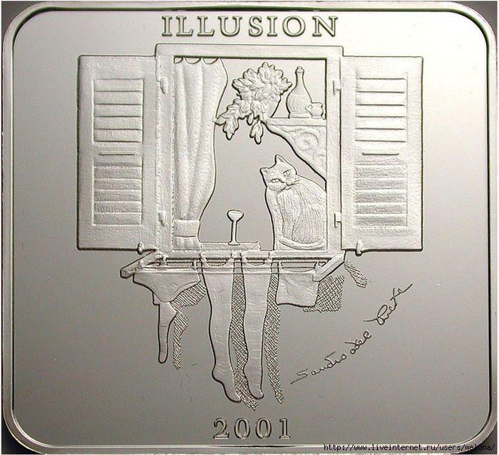 Монета-иллюзия из Замбии./Фото: rulim.org
