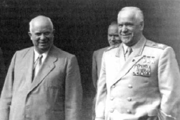 Хрущев и Жуков