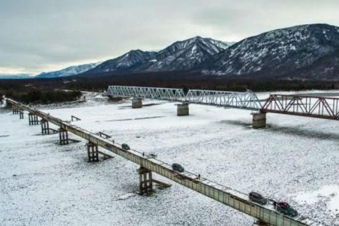 Экстремальный мост на реке Витим