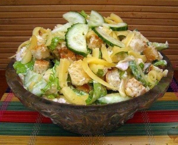 Вечерний легкий салат для легкого и сытного ужина!