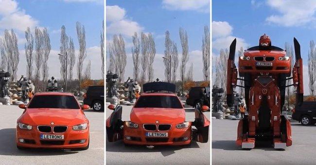 В Турции создан трансформер на основе автомобиля BMW (8 фото + видео)