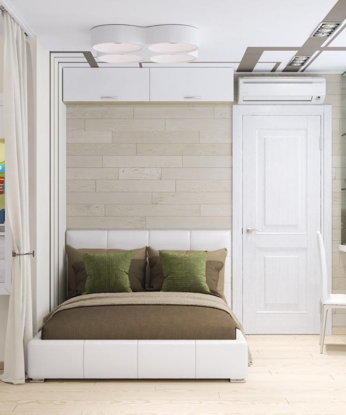 спальня в однокомнатной квартире 33 кв. м.