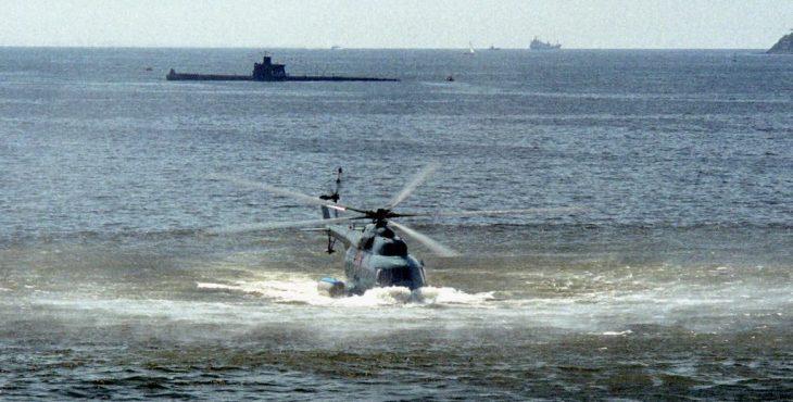Вертолет-амфибия, способный нести глубинные ядерные бомбы