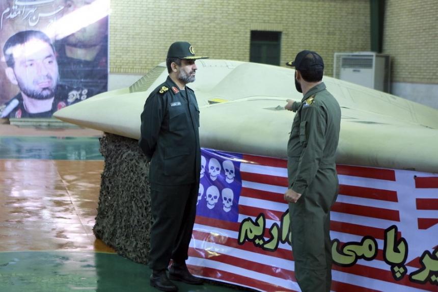 Иран показал фото трофейного американского беспилотника