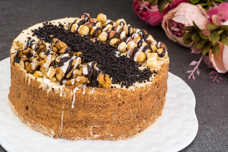 торт наташа со сметанным кремом