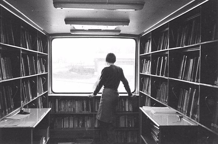 1967 библиотека, библиотека на колесах, ретро фото