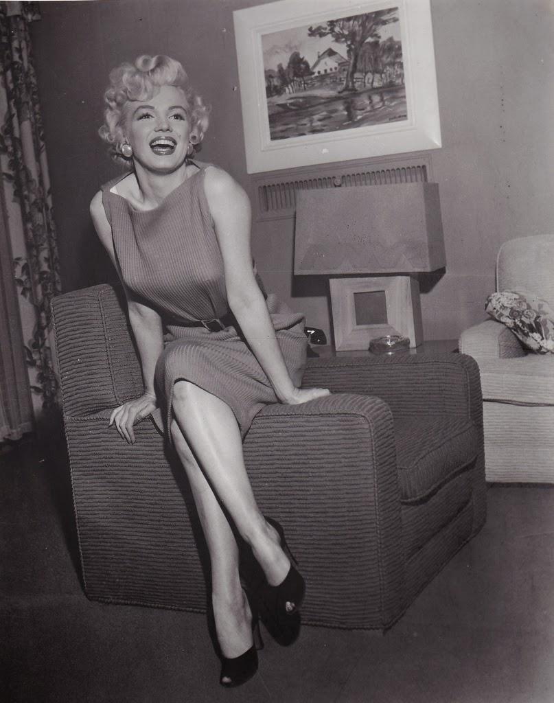 Портрет Фотография Мэрилин Монро с 1950-х годов