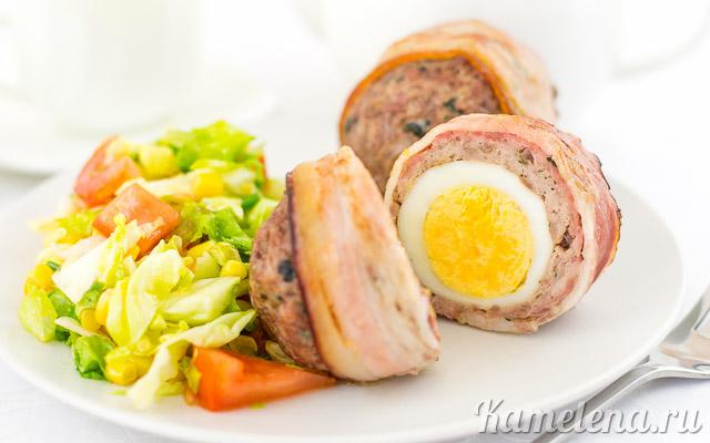 «Шотландское яйцо» в беконе