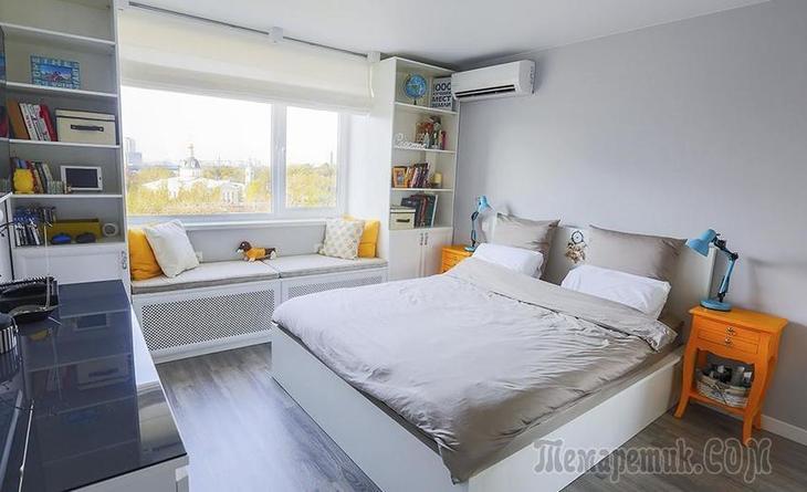 Светлая квартира 50 м² на Площади Ильича